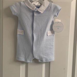 NWT-Newborn Boys Edgehill Collection Blue Romper
